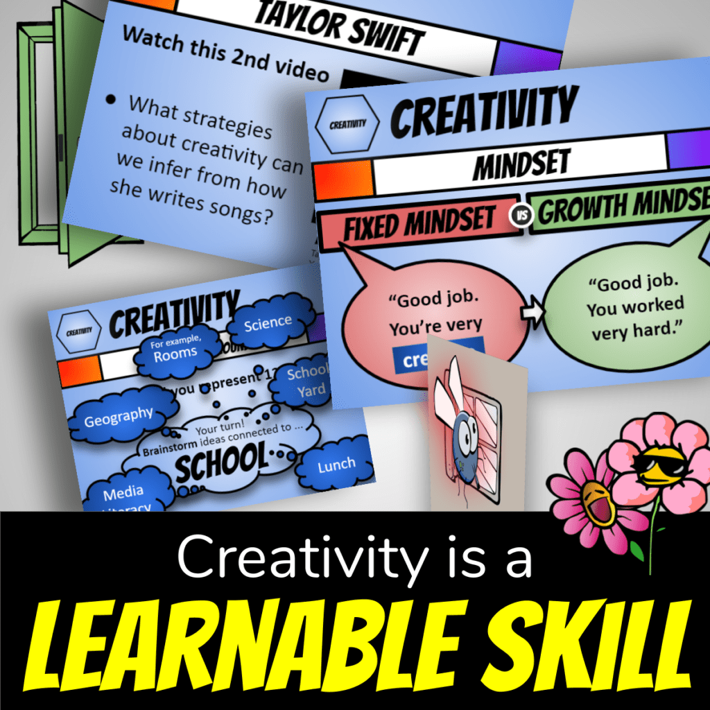 How to be Creative Lesson Plan cover: Creativity is a learnable skill