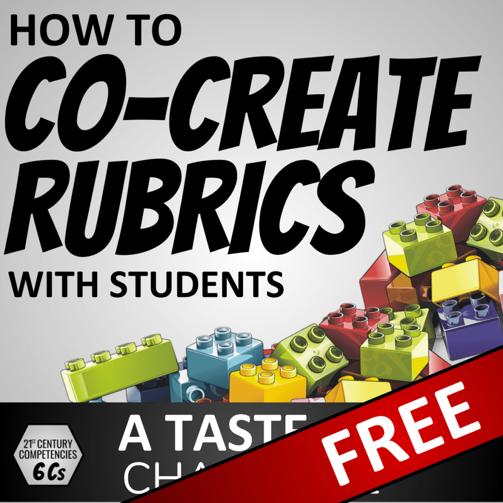 How to Co-Create Rubrics with Students - FREE lesson - A Taste of Character Cover 1